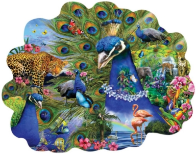 Proud Peacock - 1000pc Shaped Jigsaw Puzzle By Sunsout