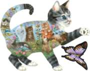 Kittens Delight - 900pc Shaped Jigsaw Puzzle By Sunsout
