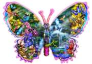 Butterfly Waterfall - 1000pc Shaped Jigsaw Puzzle By Sunsout