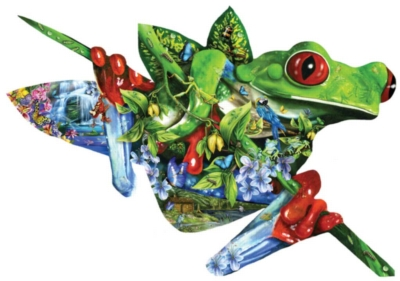 A Nest of Frogs - 1000pc Shaped Jigsaw Puzzle By Sunsout