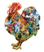Barnyard Strut - 1000pc Shaped Jigsaw Puzzle By Sunsout