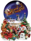 Santa's Snowy Ride - 1000pc Shaped Jigsaw Puzzle By Sunsout