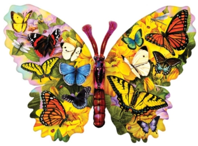 Wings of Color - 1000pc Shaped Jigsaw Puzzle By Sunsout