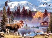 Moose Pond - 550pc Jigsaw Puzzle by White Mountain