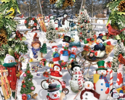 Snowmen - 1000pc Jigsaw Puzzle by White Mountain