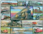 Great Trains - Multi-picture - 1000pc Jigsaw Puzzle by White Mountain