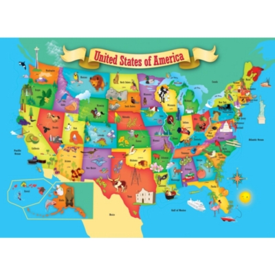 Masterpieces Jigsaw Puzzles - USA Map