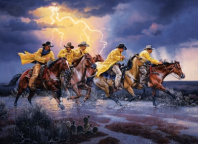 Western Spirit: Race for Home - 1000pc Jigsaw Puzzle by Masterpieces
