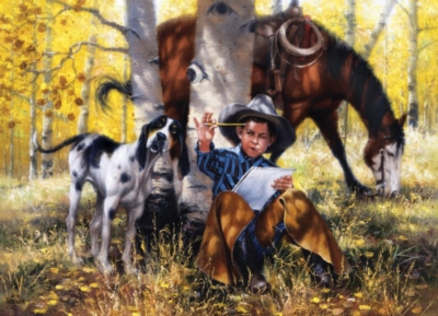 Western Spirit: The Artist - 1000pc Jigsaw Puzzle by Masterpieces