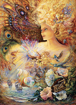 Josephine Wall: Crystal of Enchantment - 1000pc Jigsaw Puzzle in Tin by Masterpieces