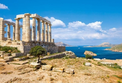 Cape Sounion, Greece - 1000pc Jigsaw Puzzle by Castorland