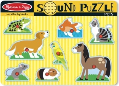 Pets - 8pc Interactive Sound Puzzle By Melissa & Doug