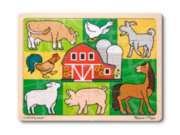 Patchwork Farm - 24pc Wooden Tray Puzzle By Melissa & Doug
