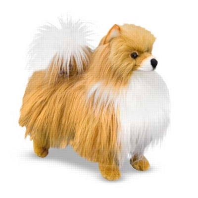 "Pomeranian - 14"" Tall, Standing Plush Dog by Melissa & Doug"