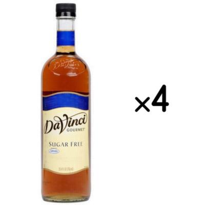 Davinci Sugar Free Flavored Syrups - 750 ml. Plastic Bottle Assorted Case