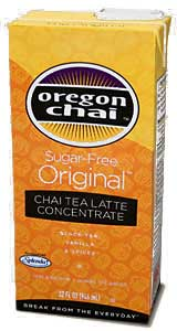 Oregon Chai Tea: Sugar Free Original - 32 oz. Carton