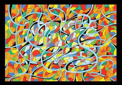 Alex Beard: Abstract - 315pc Impossible Jigsaw Puzzle by Great American Puzzle Factory