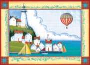 Coastal Village - 1000pc Jigsaw Puzzle by Great American Puzzle Factory