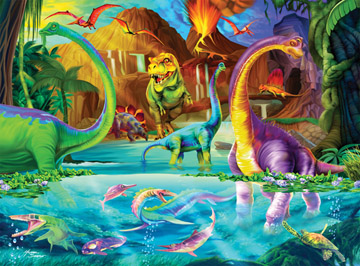 Dino Playland - 200pc Jigsaw Puzzle by Ravensburger