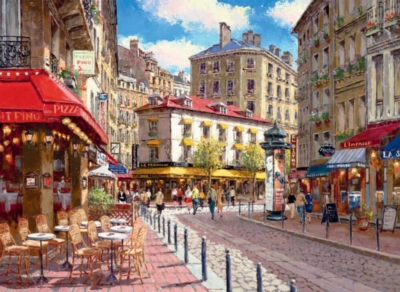 Quaint Shops - 500pc Jigsaw Puzzle by Ravensburger