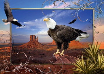 Majestic Eagle - 1000pc Jigsaw Puzzle by Ravensburger