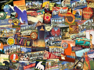 Road Trip USA - 1000pc Jigsaw Puzzle by Ravensburger