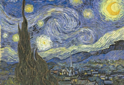 Van Gogh: Starry Night - 1000pc Jigsaw Puzzle by Buffalo Games