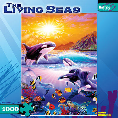 Orca Sunrise - 1000pc Jigsaw Puzzle by Buffalo Games