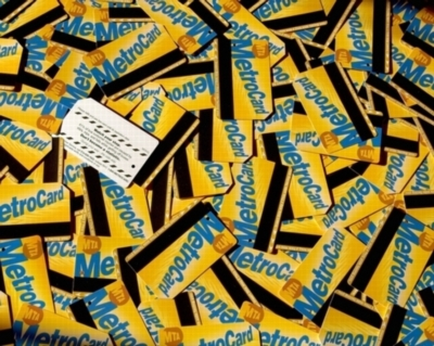 Metrocard Madness - 500pc Jigsaw Puzzle by New York Puzzle Co.