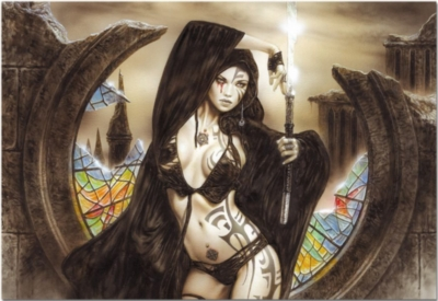 Luis Royo: the Love Goddess Uzume at Dawn - 1500pc Jigsaw Puzzle by Educa