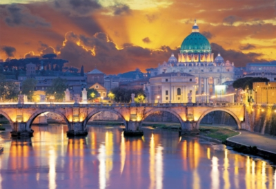 San Angelo Bridge, Rome - 2000pc Jigsaw Puzzle by Educa