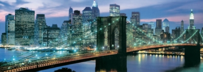 Brooklyn Bridge, New York - 1000pc Panoramic Jigsaw Puzzle by Educa