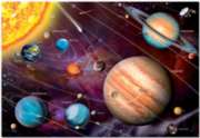 Solar System (Spanish) - 1000pc Glow in the Dark Jigsaw Puzzle by EDUCA
