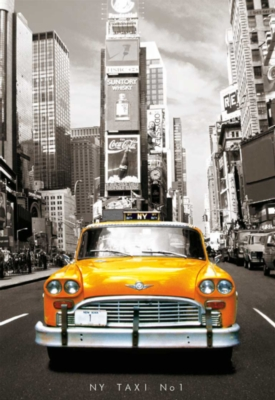 Taxi No. 1, New York - 1000pc Jigsaw Puzzle by EDUCA