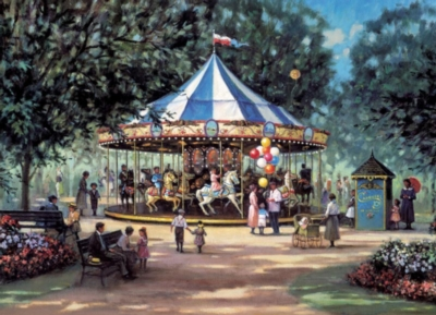 Children's Carousel - 1000pc Jigsaw Puzzle by Cobble Hill