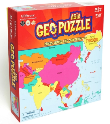 Asia - 50pc Geographical Puzzle by GEO Puzzle