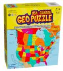 US & Canada - 70pc Geographical Puzzle by GEO Puzzle
