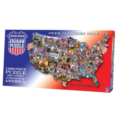 Road Trip America - 1000pc TDC Shaped Jigsaw Puzzle