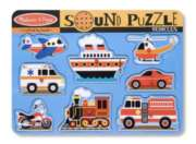 Vehicles - 8pc Interactive Sound Puzzle By Melissa & Doug