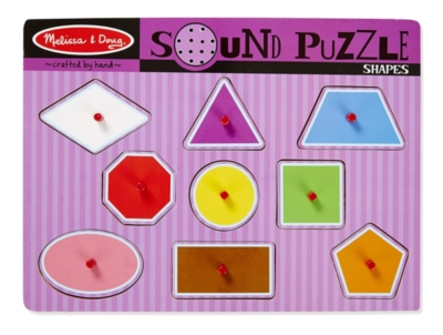 Shapes - 9pc Interactive Sound Puzzle By Melissa & Doug