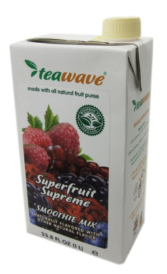 TeaWave Natural Fruit Smoothies: Superfruit Supreme - 33.8 oz. Carton