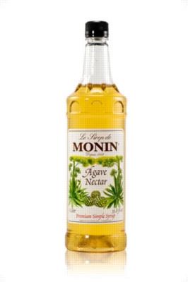 Monin Agave Nectar Sweetener - 1 Liter Plastic Bottle