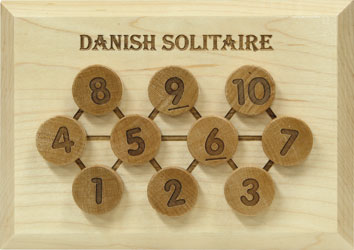 Danish Solitaire - Authentic Maple Wooden Sequential Puzzle
