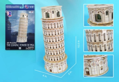 Leaning Tower of Pisa - 13pc 3D Jigsaw Puzzle by Daron