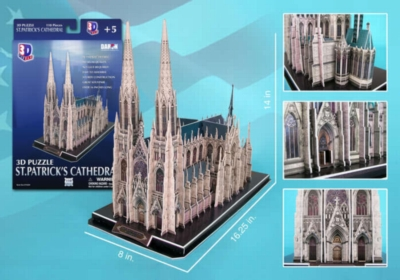 St. Patrick's Cathedral - 110pc 3D Jigsaw Puzzle by Daron