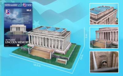 Lincoln Memorial - 42pc 3D Jigsaw Puzzle by Daron