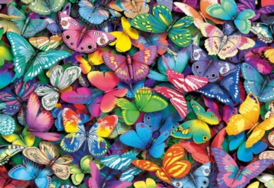 Butterflies - 500pc Jigsaw Puzzle by Educa