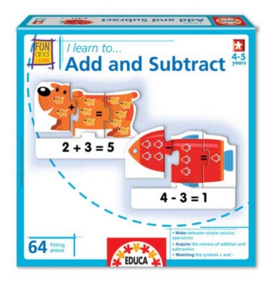 I Learn: To Add and Subtract - 64pc Jigsaw Puzzle by EDUCA