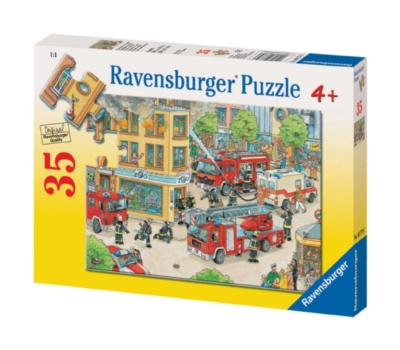 Firemen on Duty - 35pc Jigsaw Puzzle by Ravensburger