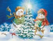 Frosty Family - 400pc Family Style Jigsaw Puzzle by Springbok